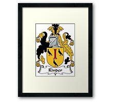 Kinder Coat of Arms (English) Framed Print