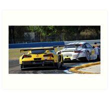 Corvette vs Porsche- Sebring 2014 Art Print