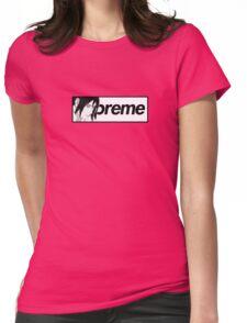 Supreme x Naruto Sasuke Parody Small Box Logo Tee Womens Fitted T-Shirt