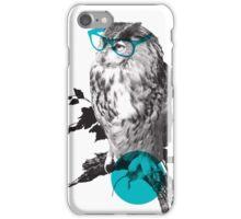 Hipster Owl - sticker iPhone Case/Skin