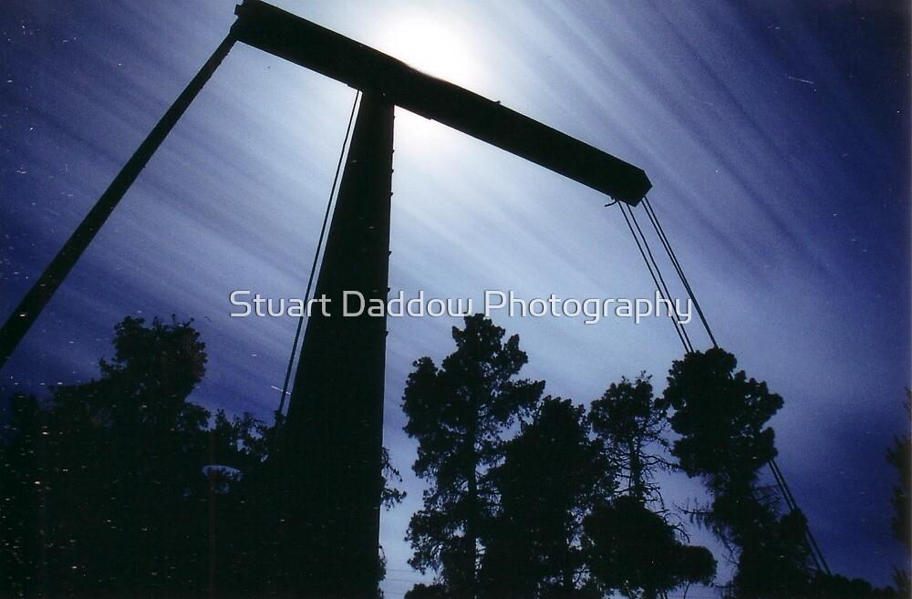 Moonlit Crane by Stuart Daddow Photography