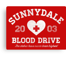 Sunnydale Blood Drive Canvas Print