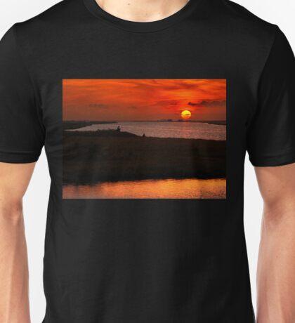 Fishing around sunset at the Delta of Evros Unisex T-Shirt