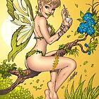 Beautiful Elf Fairy Pinup Art by Al Rio by alrioart