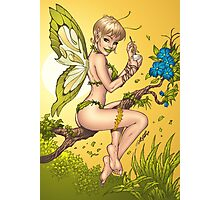 Beautiful Elf Fairy Pinup Art by Al Rio Photographic Print