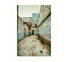Abandoned Building with Red Bricks Art Print