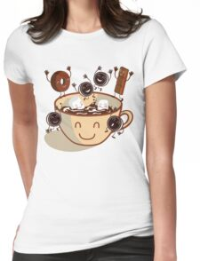 Hot chocolate time! Womens Fitted T-Shirt