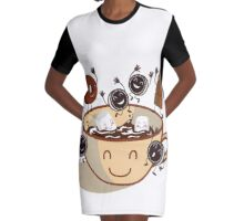 Hot chocolate time! Graphic T-Shirt Dress