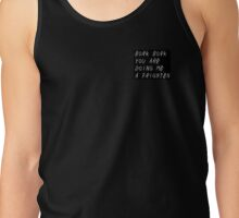Woof Woof Black Tank Top