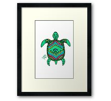 Turtle in Sharpie Framed Print