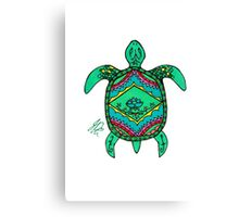 Turtle in Sharpie Canvas Print