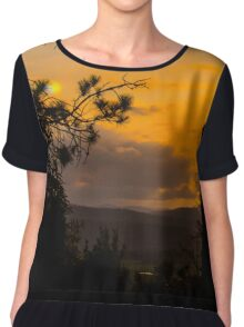 Forest's Edge Chiffon Top