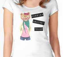 Pussies Against Trump Women's Fitted Scoop T-Shirt