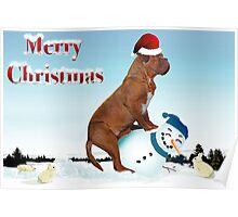 Dogue de Bordeaux - Snowman Race Poster
