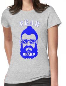BRIAN WILSON FEAR THE BEARD Soft T-Shirt LA Dodgers Los Angeles MLB GREY TEE Womens Fitted T-Shirt