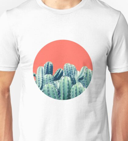 Cactus on Coral #redbubble #lifestyle T-Shirt