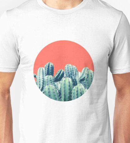 Cactus on Coral #redbubble #lifestyle Unisex T-Shirt