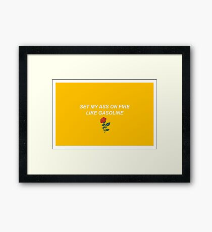 Troye Sivan - Gasoline Parody Framed Print