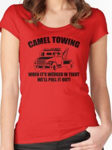 Camel Towing Mens T-Shirt Tee Funny Tshirt Tow Service Toe College Humor Cool Women's Fitted Scoop T-Shirt
