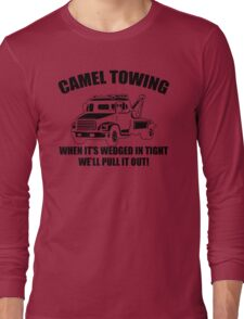 Camel Towing Mens T-Shirt Tee Funny Tshirt Tow Service Toe College Humor Cool Long Sleeve T-Shirt