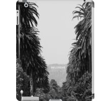 HOLLYWOOD SIGN IN BLACK & WHITE iPad Case/Skin