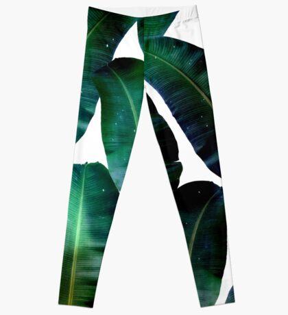 Cosmic Banana Leaves #redbubble #lifestyle Leggings