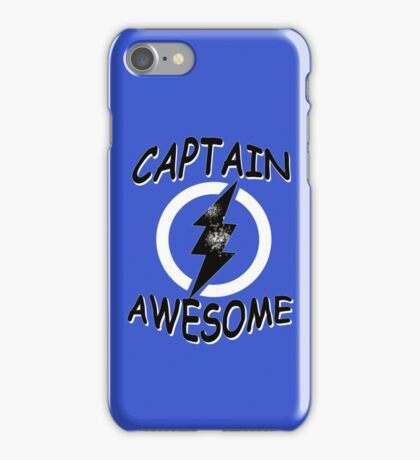 CAPTAIN AWESOME TSHIRT Funny Humor TEE COMIC VINTAGE New LIGHTNING VTG 80s Cool iPhone Case/Skin