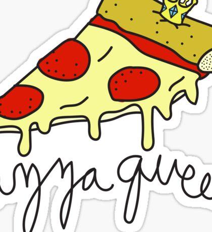 Pizza Queen ♥♕ Sassy/Trendy/Hipster/Tumblr Meme Sticker