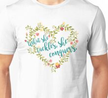 She Conquers Unisex T-Shirt