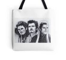 The Many Faces of Orlando Bloom Tote Bag