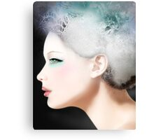 Maia, a woman side face Canvas Print