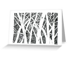 Trees Negative Greeting Card