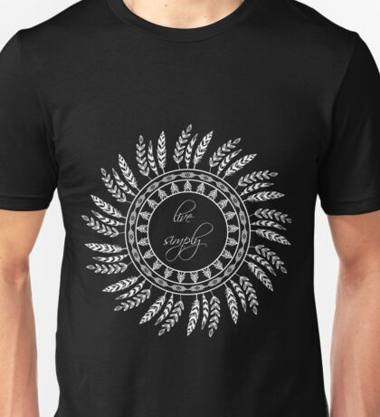 Live simply - inverted Unisex T-Shirt