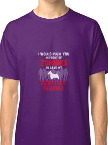 Front Zombies Scottish Terrier Classic T-Shirt