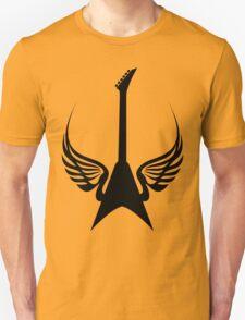 Cool Rock Electric Guitar Wings Music T-Shirt