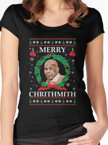 Merry Chrithmith Funny Christmas Women's Fitted Scoop T-Shirt