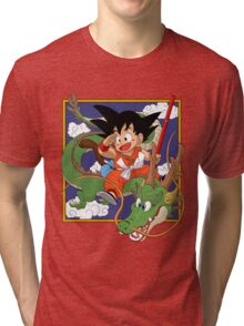 son goku and the dragon  Tri-blend T-Shirt