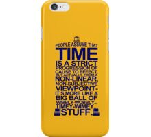 DOCTOR WHO TYPOGRAPHY T Shirt Doc Dr BBC Tardis Time Dalek New Tenth Timey Wimey iPhone Case/Skin