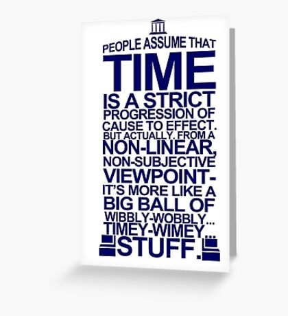 DOCTOR WHO TYPOGRAPHY T Shirt Doc Dr BBC Tardis Time Dalek New Tenth Timey Wimey Greeting Card