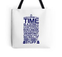 DOCTOR WHO TYPOGRAPHY T Shirt Doc Dr BBC Tardis Time Dalek New Tenth Timey Wimey Tote Bag