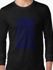 DOCTOR WHO TYPOGRAPHY T Shirt Doc Dr BBC Tardis Time Dalek New Tenth Timey Wimey Long Sleeve T-Shirt