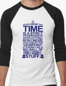 DOCTOR WHO TYPOGRAPHY T Shirt Doc Dr BBC Tardis Time Dalek New Tenth Timey Wimey Men's Baseball ¾ T-Shirt