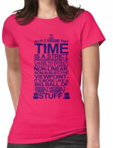 DOCTOR WHO TYPOGRAPHY T Shirt Doc Dr BBC Tardis Time Dalek New Tenth Timey Wimey Womens Fitted T-Shirt