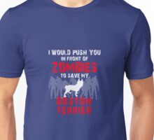 Front Of Zombies Boston Terrier Unisex T-Shirt