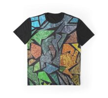 Kaz Art Creations Technicolour Fish Stained Glass Graphic T-Shirt