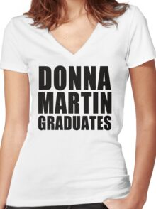 Donna Martin Graduates T-Shirt 90210 TV TEE Retro Funny hip Beverly Hills CA Women's Fitted V-Neck T-Shirt