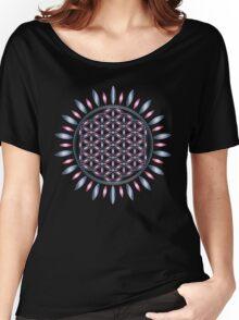 SACRED GEOMETRY - FLOWER OF LIFE - SPIRITUALITY - YOGA - MEDITATION Women's Relaxed Fit T-Shirt