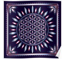 SACRED GEOMETRY - FLOWER OF LIFE - SPIRITUALITY - YOGA - MEDITATION Poster