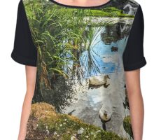 Artwork Country House Chiffon Top