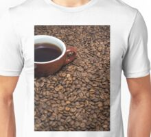 Coffee beans cup coffee Unisex T-Shirt